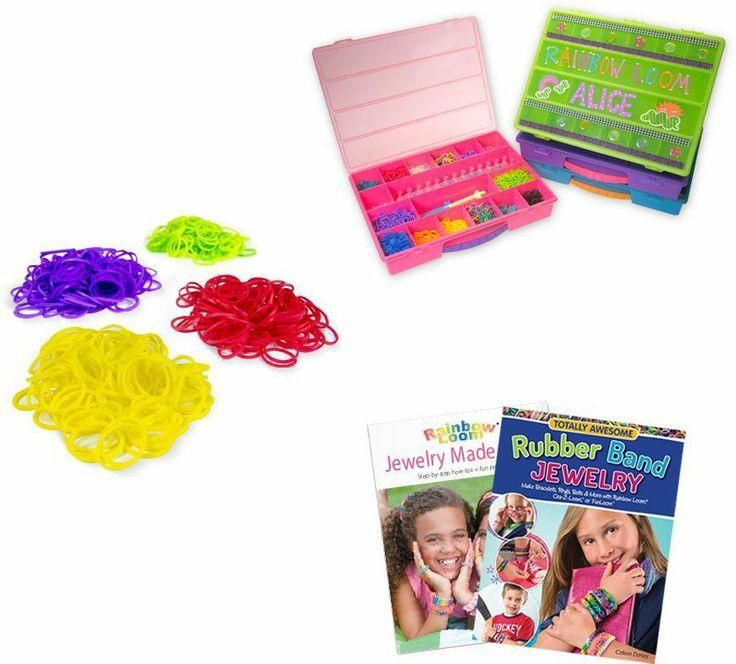 ... Rainbow Loom storage case and pattern books available at Michaels
