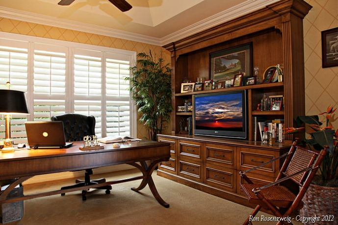 Traditional home office design idea for the home pinterest Den decorating ideas photos