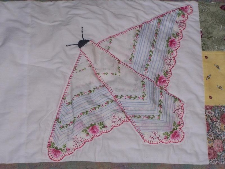 Butterfly Hankie Quilt Ideas