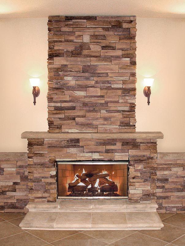 stone veneer fireplace dreamhouse pinterest