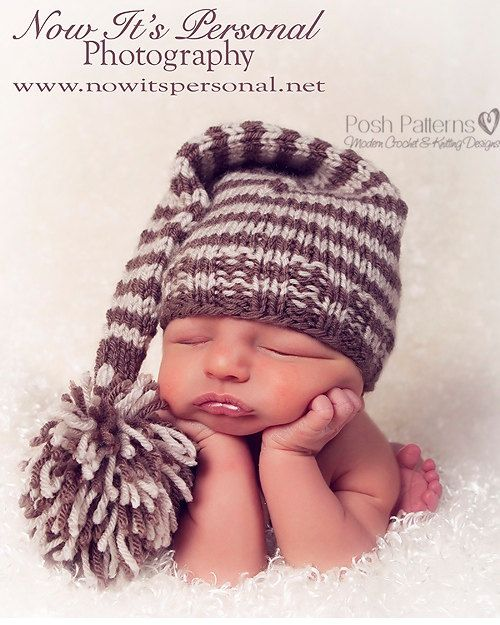 Knitting Pattern For Pixie Hat : Knitting PATTERN - Baby Long Tail Elf Pixie Hat - Instant Download PD?
