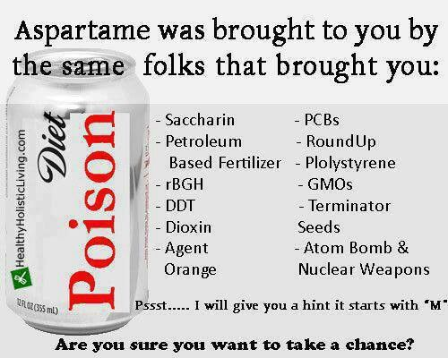 Aspartame | Toxic products ! protect your family! | Pinterest