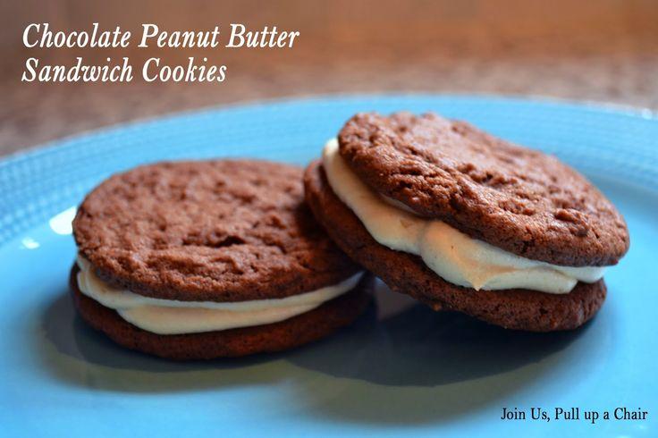 Chocolate Peanut Butter Sandwich Cookies #FillthecookieJar ...