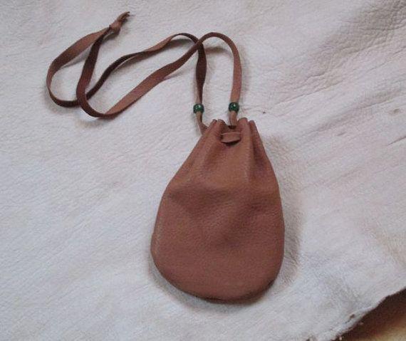 Deerskin Leather Pouch / Bag Mountain Man  by FolkOfTheWoodCrafts, $12.00