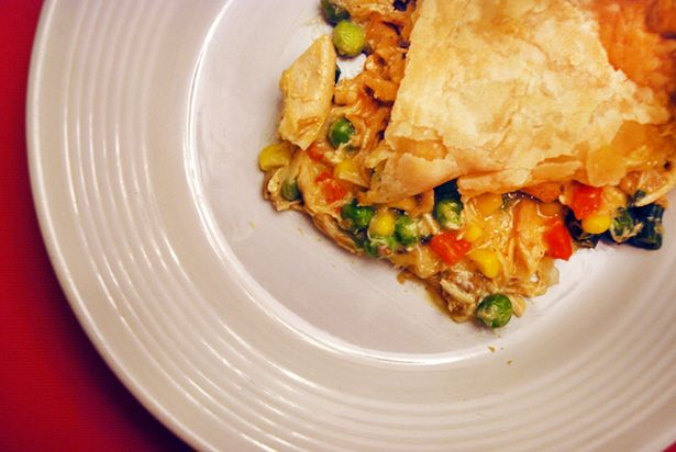 Easy Peasy Chicken Pot Pie - quick and easy comfort food!