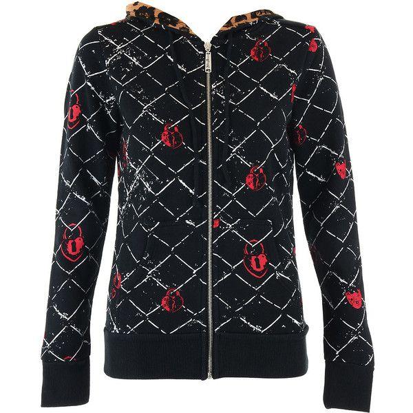 Abbey dawn cross my heart hoodie black hoodie abbey dawn clothing uk