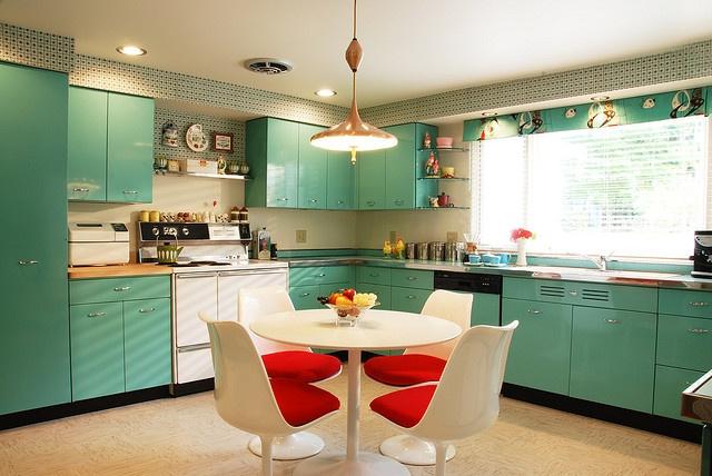 50s Kitchens Prepossessing Of Retro Kitchen Design Picture
