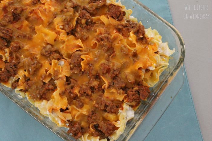 Sour Cream Noodle Bake - White Lights on Wednesday