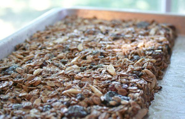 Homemade, Chewy – Dark Chocolate, Cherry with Almond Granola Bars ...