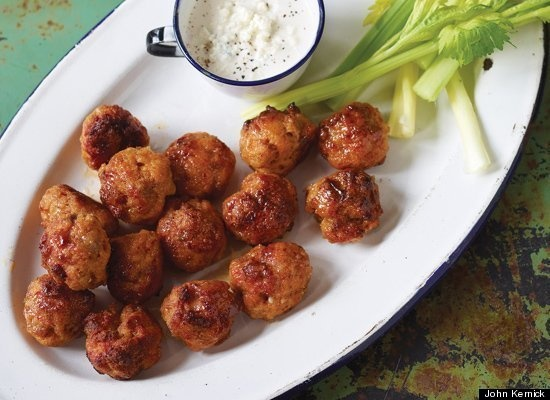 mini buffalo chicken meatballs | Appetizers and Party Food