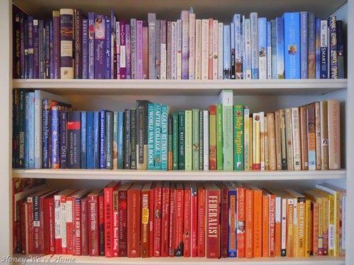 book books bookshelf colours - photo #44