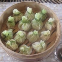 Steamed Chinese Cabbage Parcels: The flour wrappers have been ...