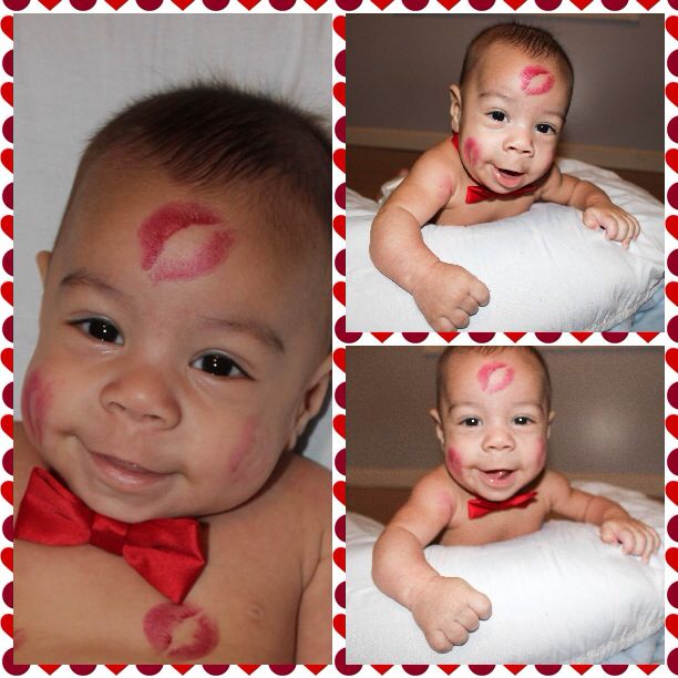 baby's first valentine's day greeting cards