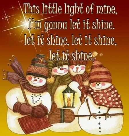 Let His light shine :)