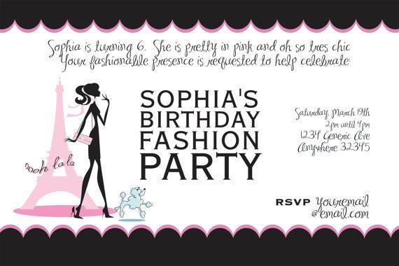 Invitations to fashion shows 94