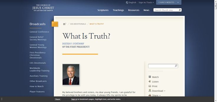 broadcasts article ces devotionals what is truth