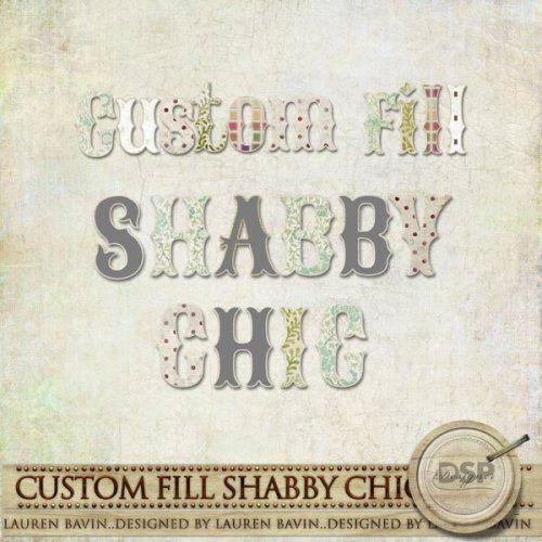 Custom Fill Shabby Chic Alphabet | fonts | Pinterest