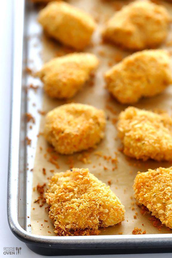Parmesan Baked Chicken Nuggets | Recipe