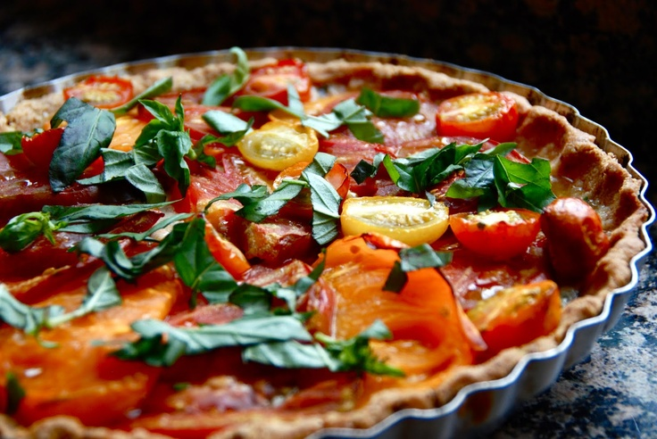 heirloom tomato pie from food network mag