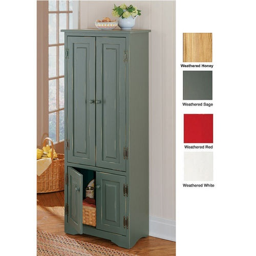 New extra tall pine kitchen cabinet pantry for Tall kitchen cabinets