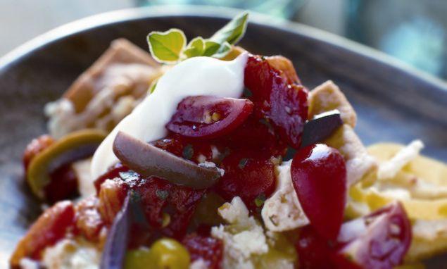 Greek Style Nachos | Recipe
