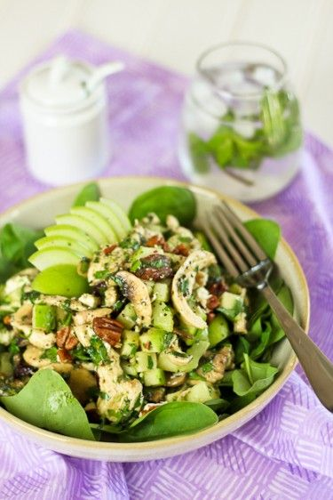 greek chicken pasta salad with feta and herbs from liz at the lemon ...
