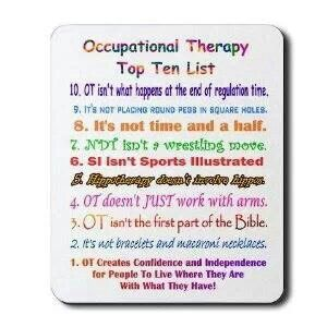 Occupational Therapy best things to have for college