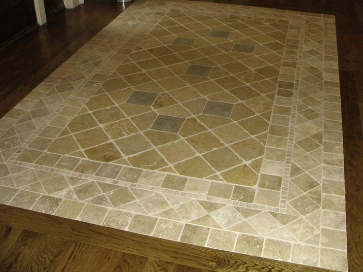 Foyer Floor Tile Patterns : Travertine foyer floor pattern house pinterest