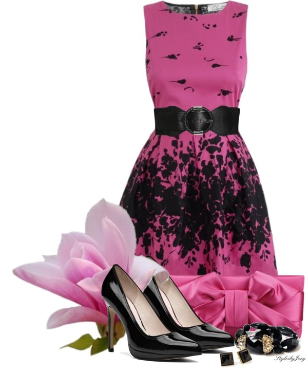 """""""Pink Magnolia"""" by stylesbyjoey on Polyvore"""