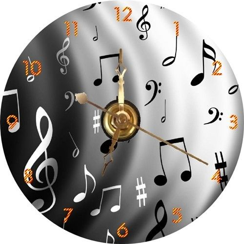 BRAND NEW Musical Notes / Sheet Music CD Clock | eBay