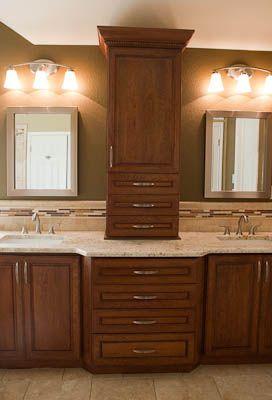 cabinet between sinks future dream bathroom pinterest