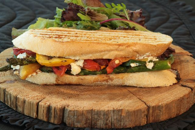 Grilled Vegetable Goat-Cheese Sandwich | http://californiagoldminer ...