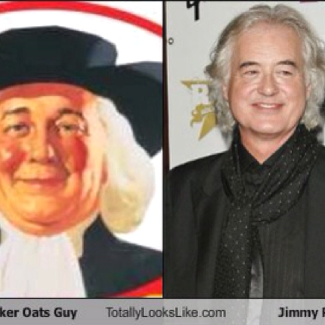 The Quaker Oats Guy looks like Jimmy PageQuaker Oats Guy