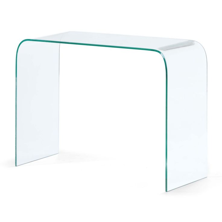 Mecca Clear Glass Console Table