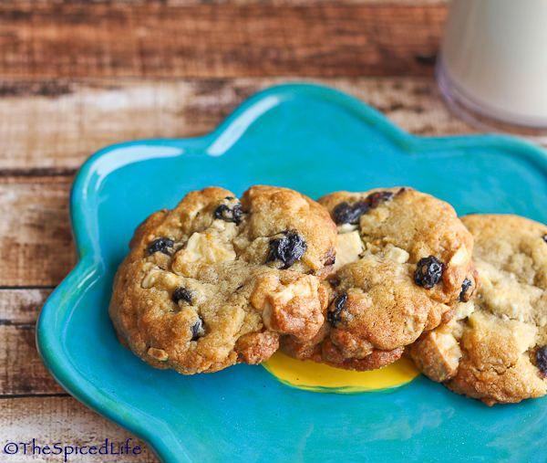 Blueberry Lemon Cookies with White Chocolate Chunks   Recipe