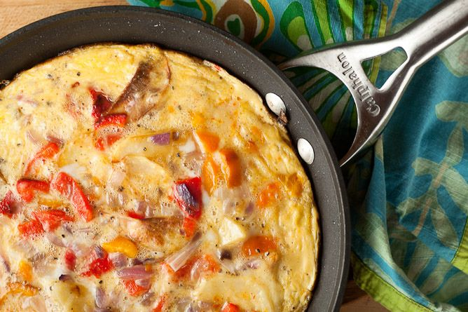 Potato & Roasted Pepper Frittata | get cooking | Pinterest