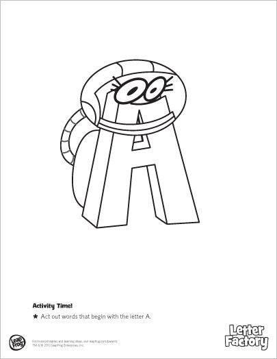 Leapfrog Alphabet Coloring Pages : Leapfrog letter factory coloring book let the