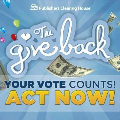 Help PCH giveaway $100,000 to charity. #PCHGiveBack