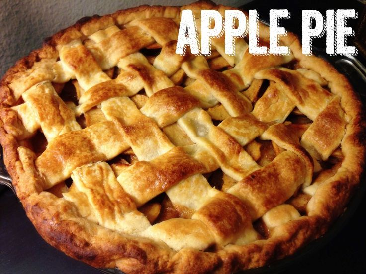 Lattice top apple pie recipe. Just in time for fall!