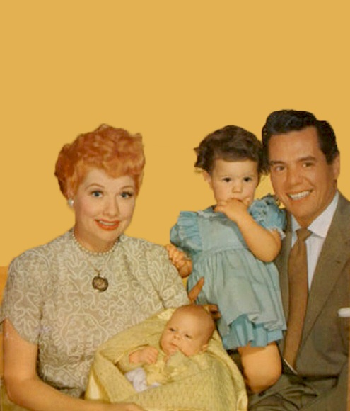 lucille ball and desi arnaz with their children lucie and