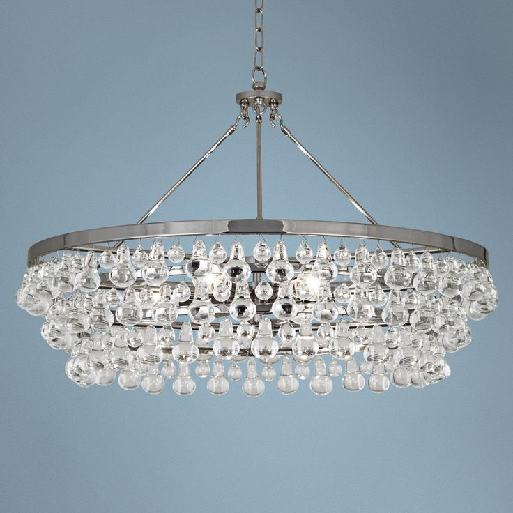 Robert Abbey Bling Collection Nickel Chandelier