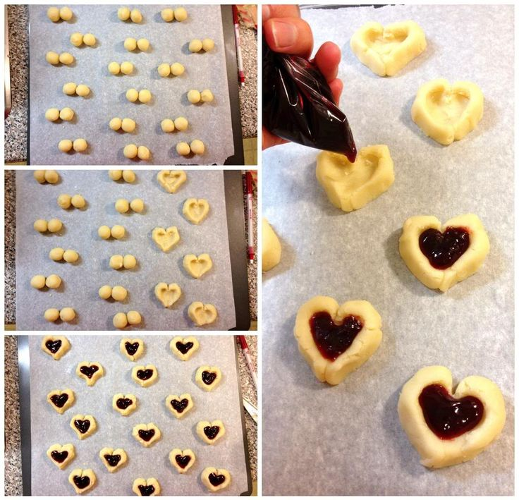 Raspberry Shortbread Heart Cookies | { baking + sweeties } | Pinterest