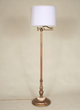 Vintage Swing Arm Floor Lamp C 1940 Craft Room And
