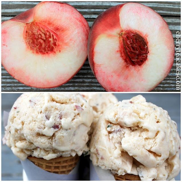 Peach Lemon Thyme Ice Cream | Ice Cream - Popsicles - Smoothies | Pin ...