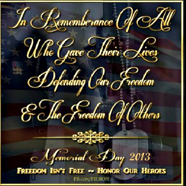 memorial day short sayings