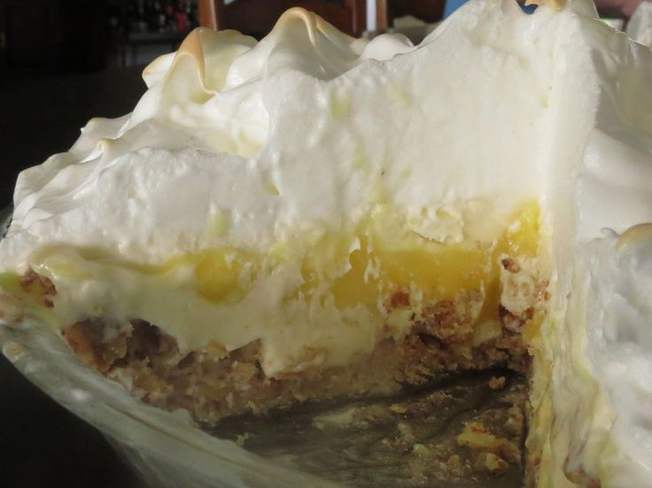 Lemon Meringue Ice Cream Pie In Toasted Pecan Crust Recipe ...