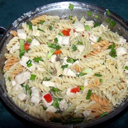 http://allrecipes.com/recipe/lemon-cream-pasta-with-chicken/  I add broccoli, red pepper, and carrots.