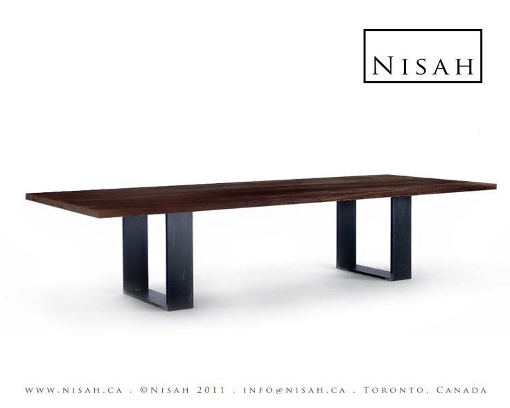 Dining table sleek modern dining table for Sleek dining room tables