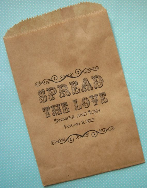 Small Personalised Wedding Gift Bags : 25 Small Brown Kraft Bags, Wedding Favor Bags, PERSONALIZED bags, Can ...