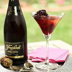 Bing Cherry Sorbet w Cava   fruit of the month   Pinterest
